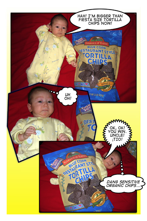 Chiara and Tortillas comic strip